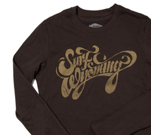 Load image into Gallery viewer, W's Script Long Sleeve Tee - Bison Brown