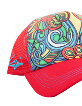 Load image into Gallery viewer, SACRED Surf Trucker - Aloha Bus - Red