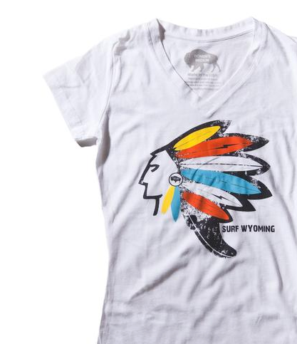 Women's Surf Wyoming® Headdress V-neck Tee