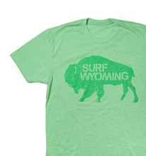 Load image into Gallery viewer, Men's SURF WYOMING® Bison Logo Tee - Mossy Green