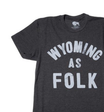 Load image into Gallery viewer, Men's SURF WYOMING® Wyoming As Folk Tee - Charcoal