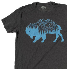 Load image into Gallery viewer, Men's SURF WYOMING® Bison Peak Tee- Charcoal
