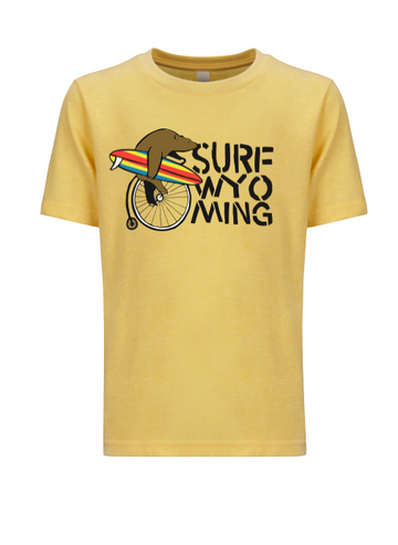 Surf Wyoming® Youth BEAR FARTHING - banana yellow