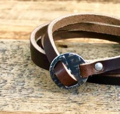 SURF WYOMING MULTI-WRAP BRACELET - NUT BROWN