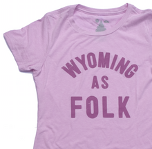 Load image into Gallery viewer, Women's Surf Wyoming® Wyoming As Folk Tee - Lilac