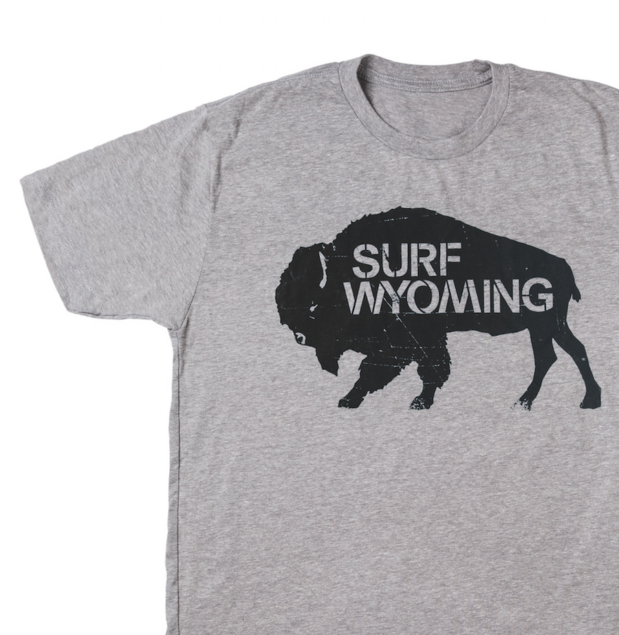 MENS Surf Wyoming® Bison Logo - Heather Grey