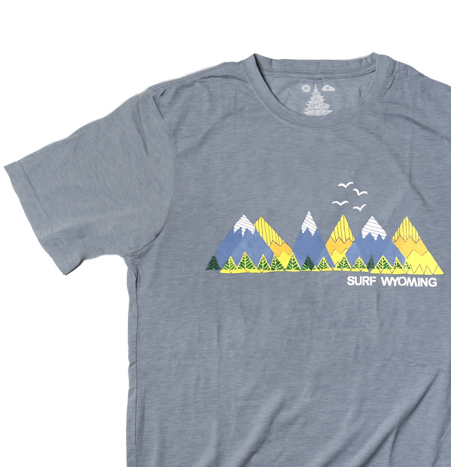 Men's SURF WYOMING® RANGIN' Tee- Indigo