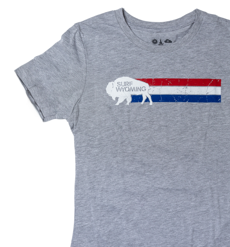 Women's Surf Wyoming® Vintage Wyomerica Tee - Grey