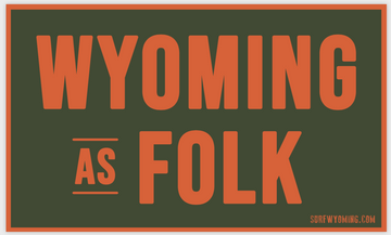 Surf Wyoming® Wyoming as Folk 2.0 Sticker - military green/orange