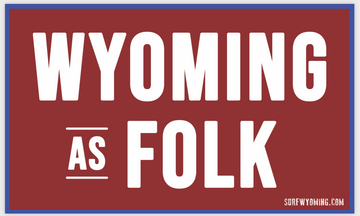 Surf Wyoming® Wyoming as Folk 2.0 Sticker - red/white/blue