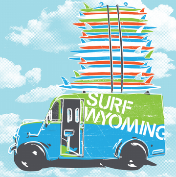 Surf Wyoming® Stacked Sprint'r Ice Cream Truck - Sticker