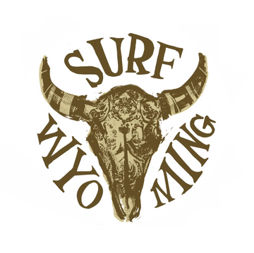 Surf Wyoming® Splash Bison Sticker