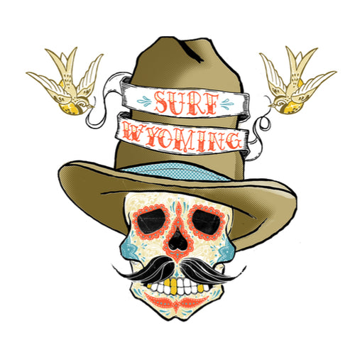 Surf Wyoming® Sundance Kid - Dia de los Muertos Sticker