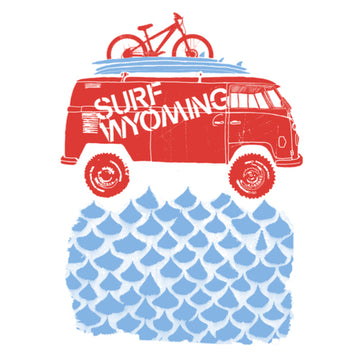 Surf Wyoming® Surf Waterdrop Bus Sticker