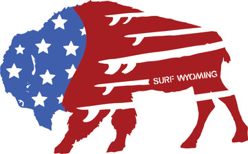 Surf Wyoming® Bison Quiver Sticker