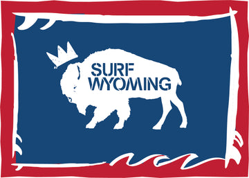 Surf Wyoming® Foamstate sticker