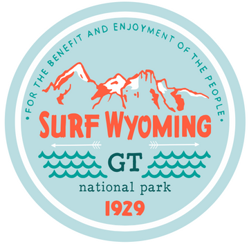 Surf Wyoming® Les Trois Badge Sticker
