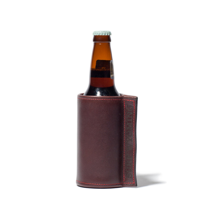 Surf Wyoming Leather and Wool Insulated Koozie
