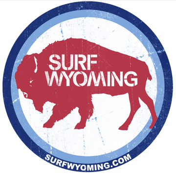 Surf Wyoming® Sticker, National 2.0