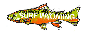 Surf Wyoming® Trutta Sticker