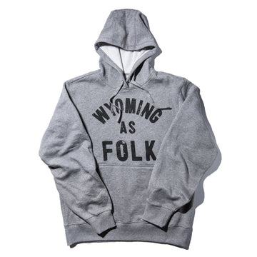 Unisex SURF WYOMING® Wyoming As Folk Pullover Hoodie - Heathered Grey