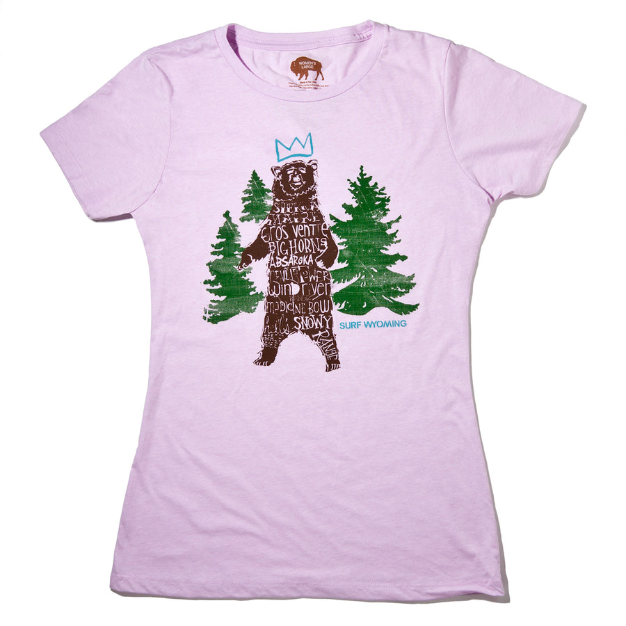 Women's Surf Wyoming® Ursa Major Tee- Lilac