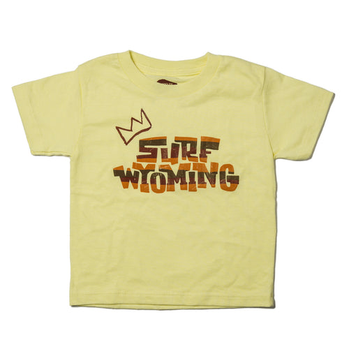Surf Wyoming-Surf Wyoming® Youth KING SCRIPT Tee - Bright Yellow-
