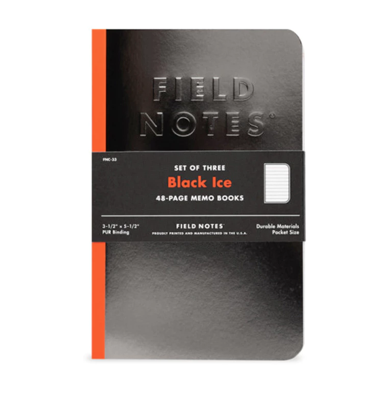 Surf Wyoming Black Ice Field Notes - 3 Pack