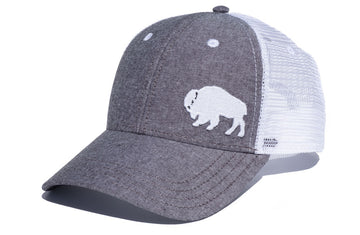 First Park Bison Trucker - Light Charcoal Chambray