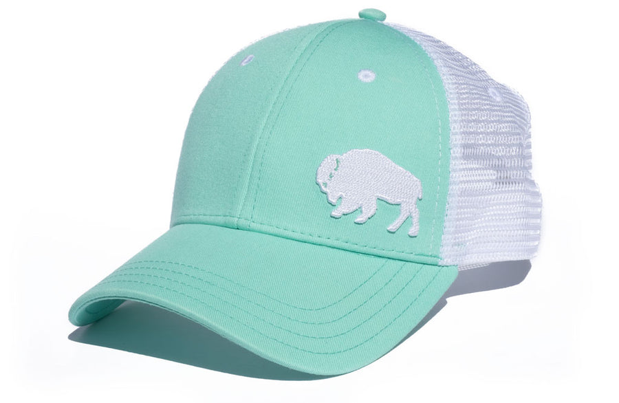 First Park Bison Trucker - Seafoam Green