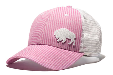 First Park Bison Trucker - Pink Seersucker
