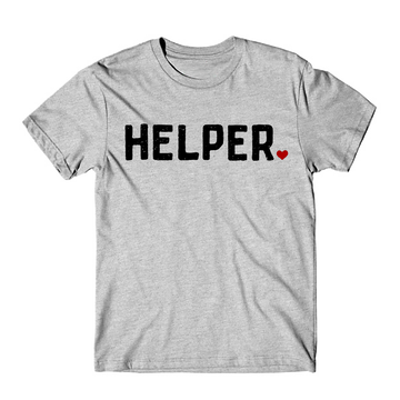 HELPER TEE  ••  GREY