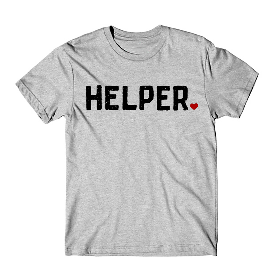 HELPER TEE  ||  GREY