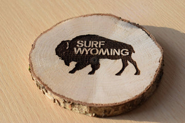 Surf Wyoming® Hot Toddy wood coasters - set of 4 (PREORDER)