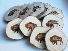 Load image into Gallery viewer, Bison Wood Coasters - Set of 4