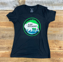 Load image into Gallery viewer, Surf Wyoming-Women's Surf Wyoming® First Park Bison Tee - Black-