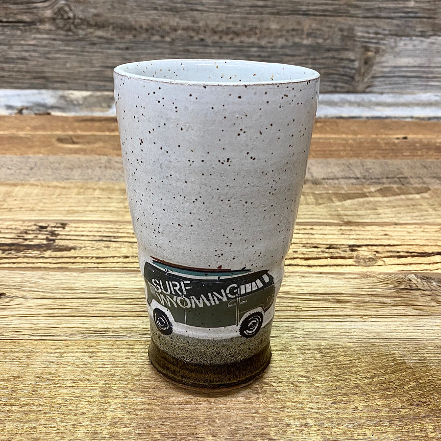 Surf Wyoming® • Handmade Ceramics • VANLIFE TALL PINT (handle-less)