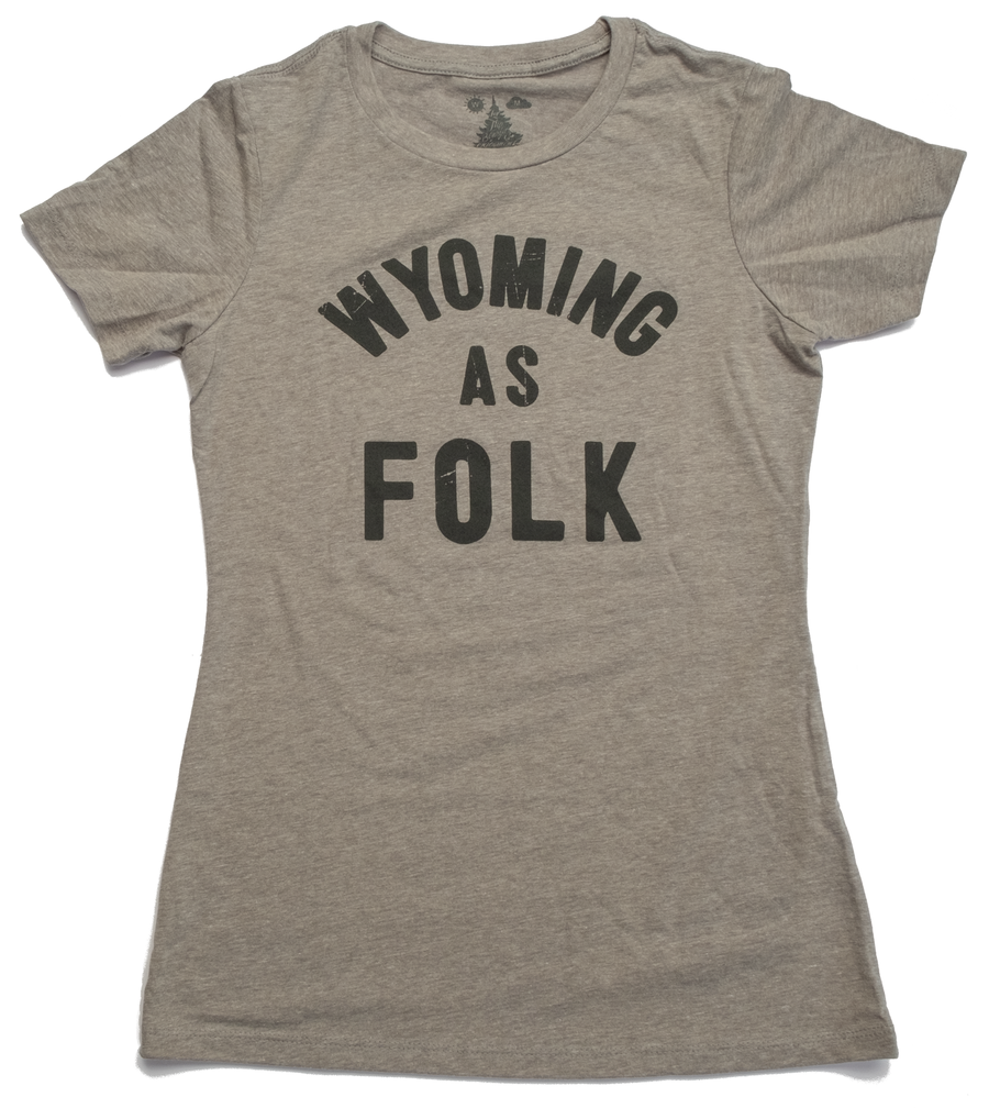 Women's Surf Wyoming® Wyoming as Folk Tee - Heathered Grey