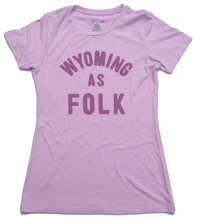Load image into Gallery viewer, Surf Wyoming-Women's Surf Wyoming® Wyoming As Folk Tee - Lilac-