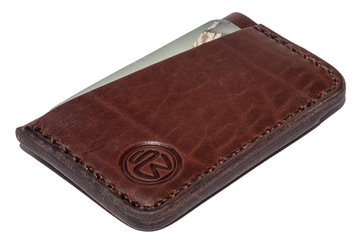 Surf Wyoming Minimalist Wallet - Nut Brown