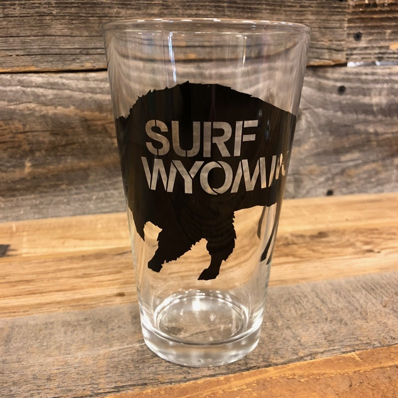 Surf Wyoming® Big Bison Pint - Black