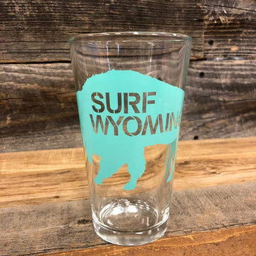 Surf Wyoming® Big Bison Pint - Tahiti Blue