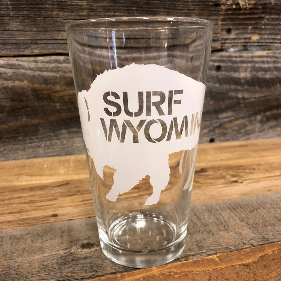 Surf Wyoming® Big Bison Pint - White