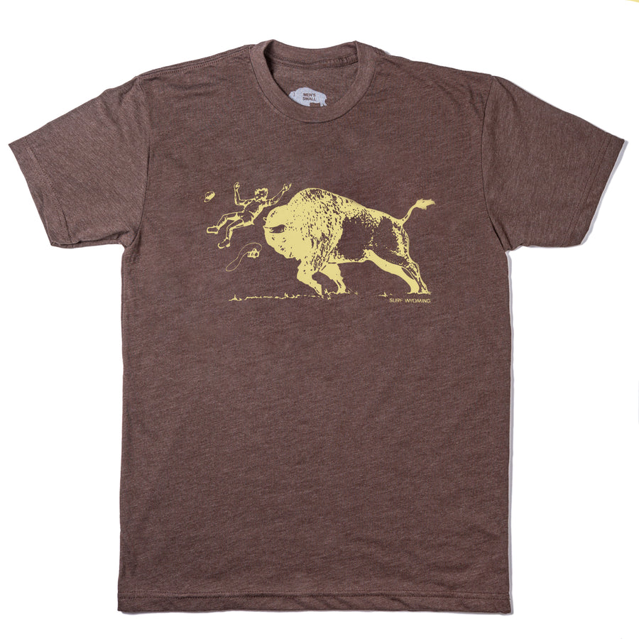 Men's SURF WYOMING® America's Petting Zoo! tee - Vintage Brown