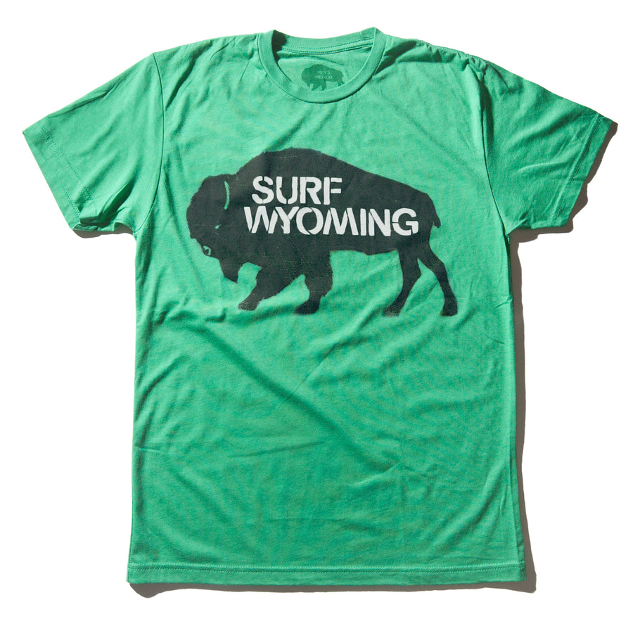Men's Surf Wyoming® Bison Tee - Lander Green