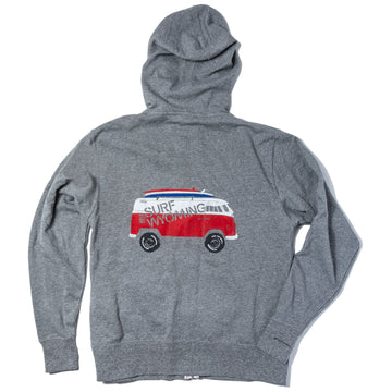 UNISEX Surf Wyoming® Vanlife Bus Zippy Hoodie - Salt & Pepper