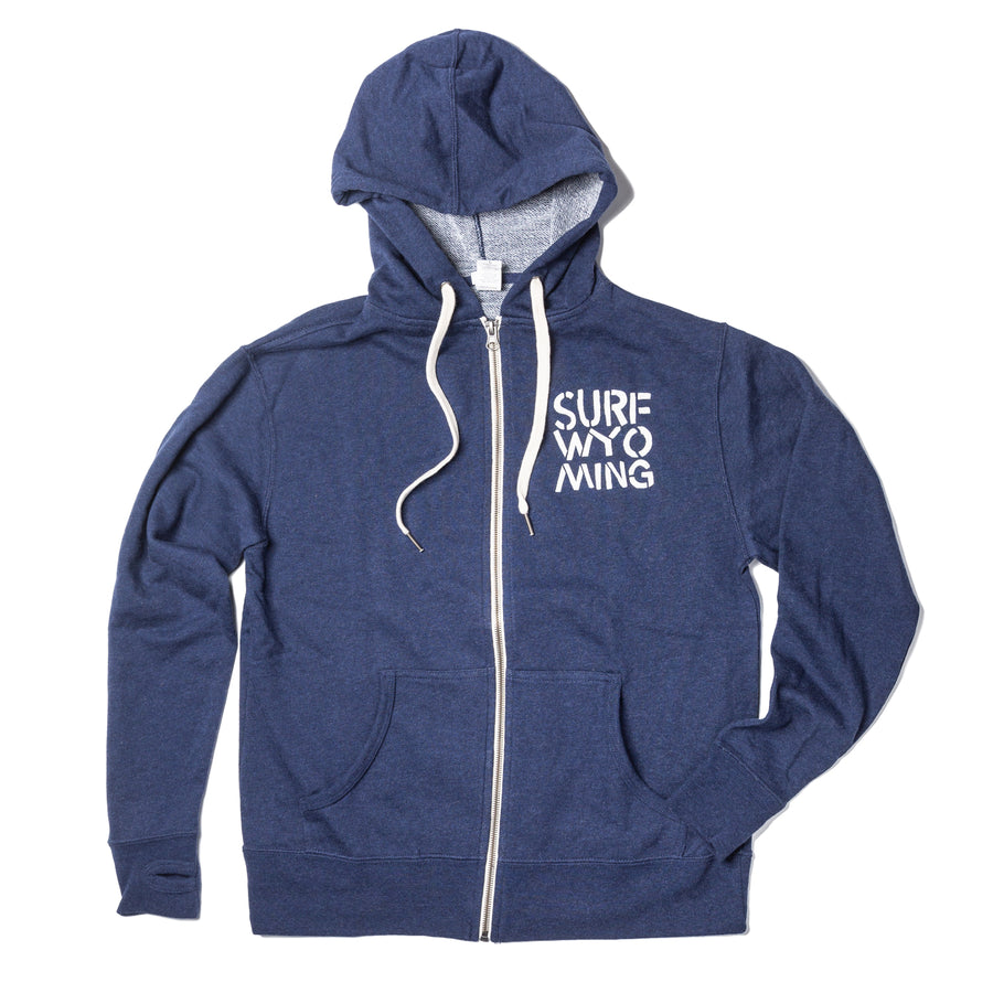 **RED BISON COLLAB** UNISEX Surf Wyoming® King Bison Zip Hoodie - Navy