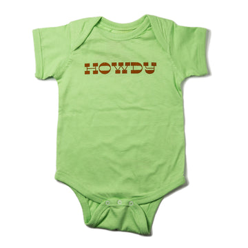 Surf Wyoming® INFANT HOWDY Onesie - Key Lime