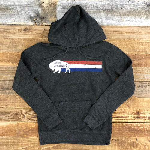 Surf Wyoming-WOMEN'S SURF WYOMING® Vintage Wyomerica Hoodie - Charcoal-