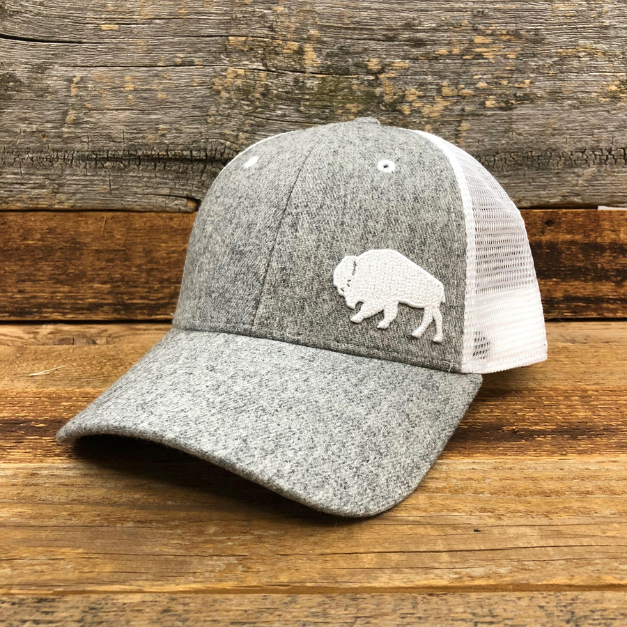 First Park Bison Trucker Hat - Felt Light Grey